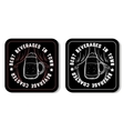Square Beverage Coaster White vector image