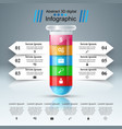 test tube experiments business infographics vector image
