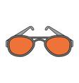 color image cartoon fashion glasses vector image