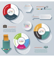 Modern infographic template design for business vector image
