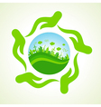 eco- city or save nature concept vector image