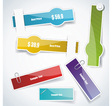 Multicolored stickers vector image