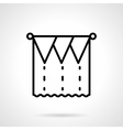 Unusual curtains black line icon vector image