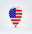 USA icon point for map vector image