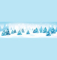 winter forest landscape snowy pine trees vector image