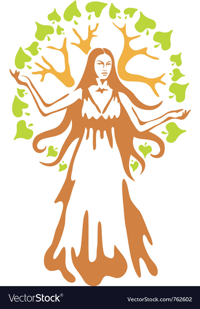 Panacea  ancient greek goddess vector