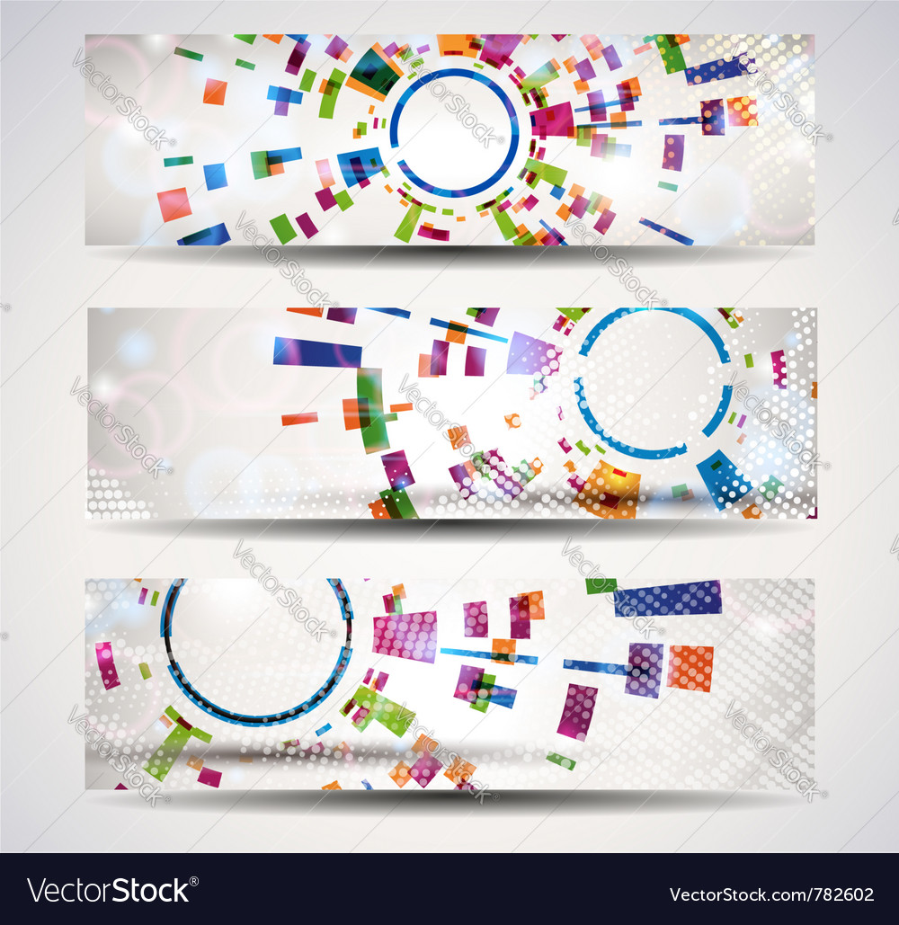 Set of abstract headerbanner vector
