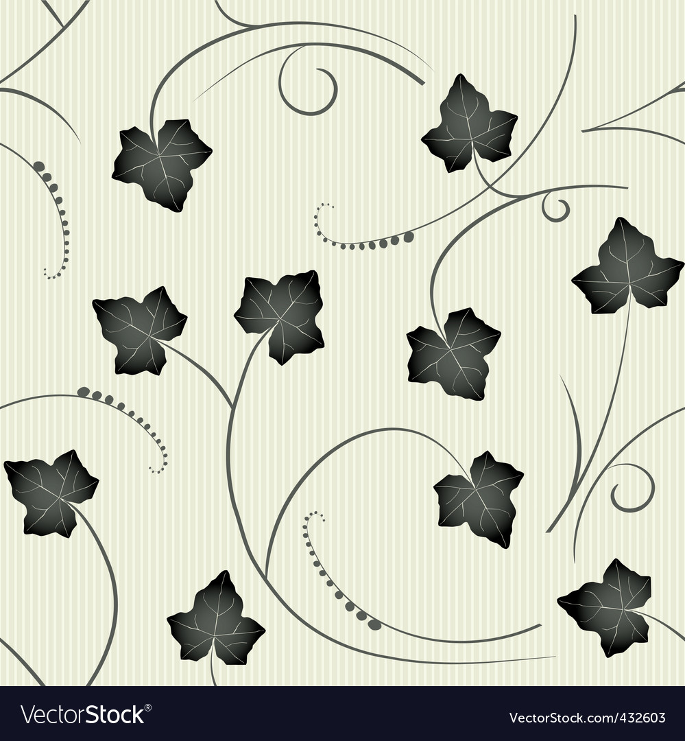 Ivy seamless pattern vector