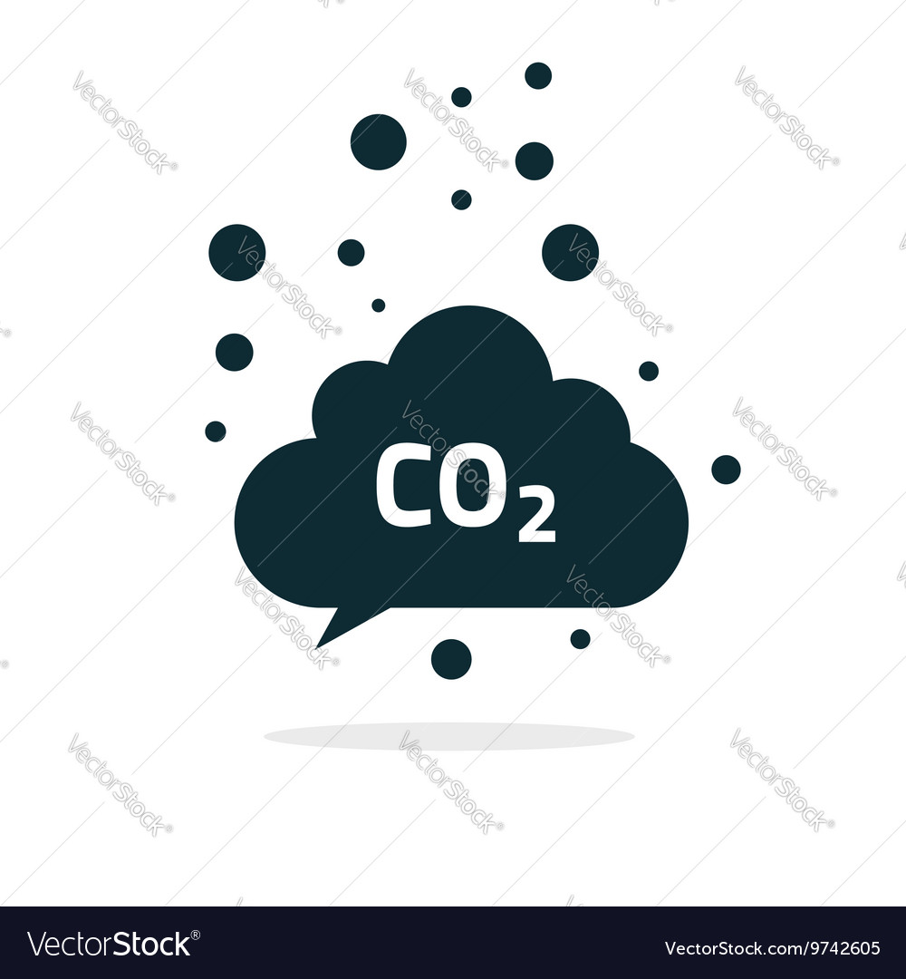 Co2 emissions cloud icon carbon dioxide vector