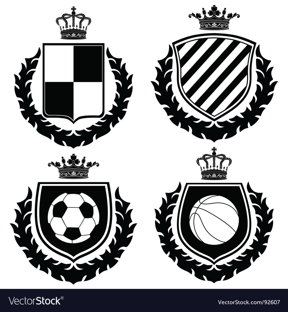 Heraldry coat of arms vector