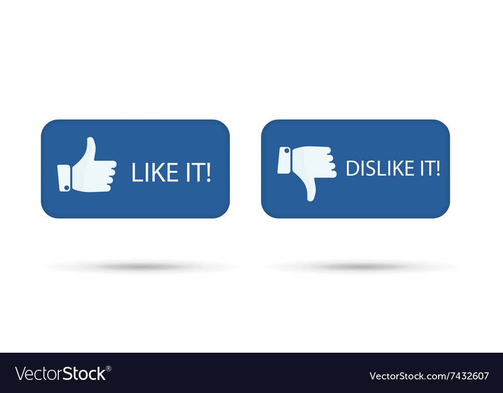 Like it and dislike symbol button isolated vector