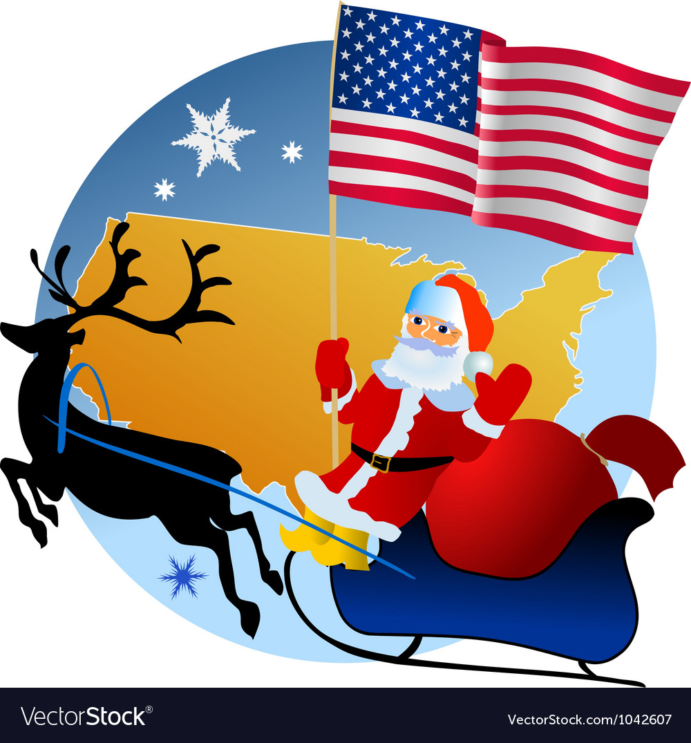 Merry christmas united states vector
