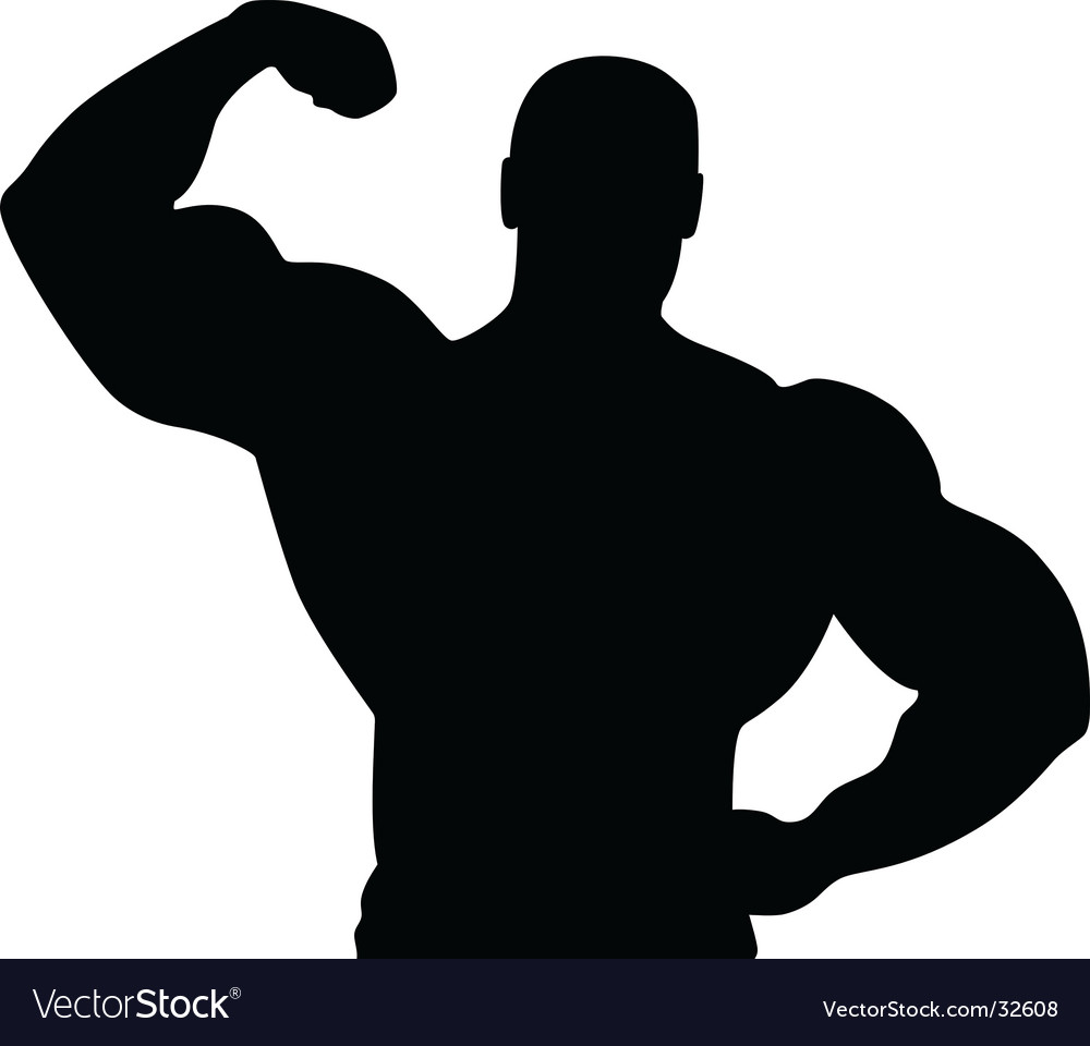 Athlete silhouette vector
