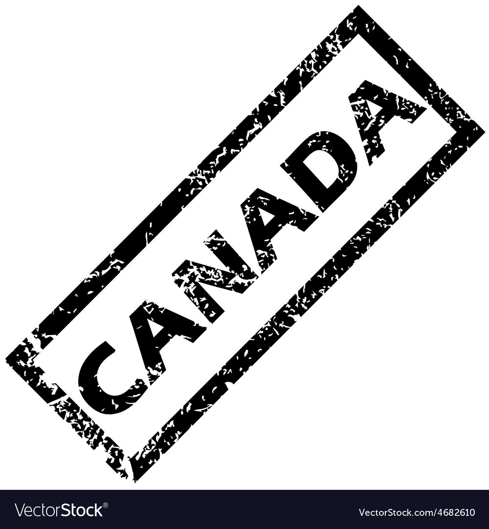 Canada rubber stamp vector