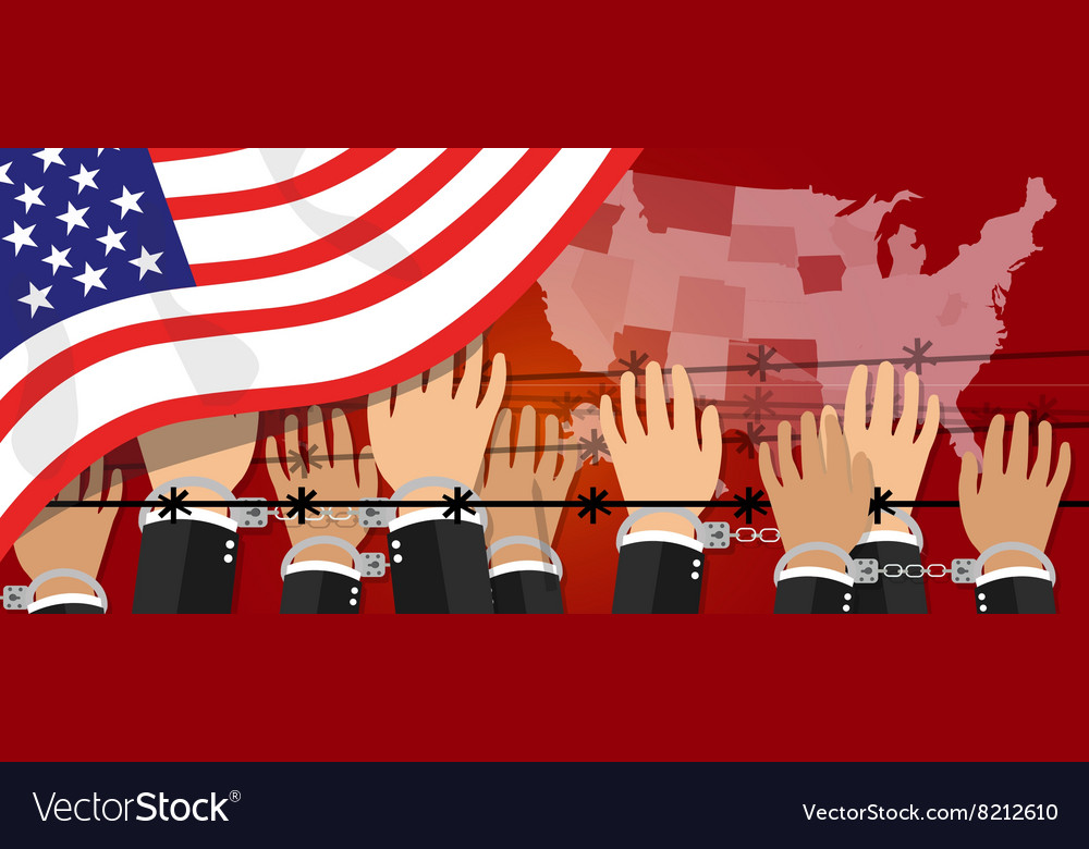 Us usa human rights freedom in america united vector