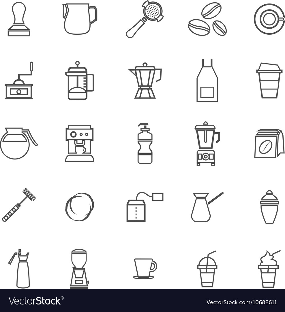 Barista line icon on white background vector