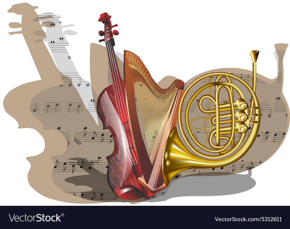 Instruments of orchestra vector