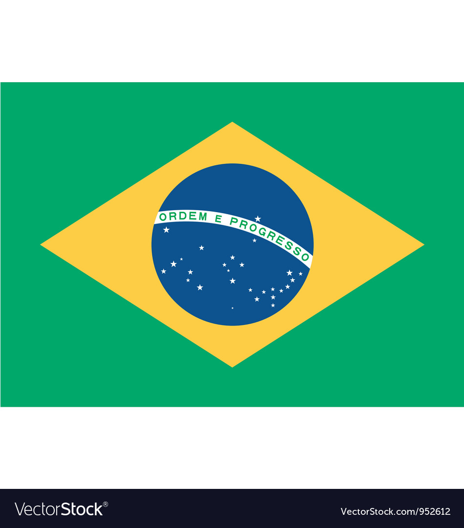 Brazilian flag vector