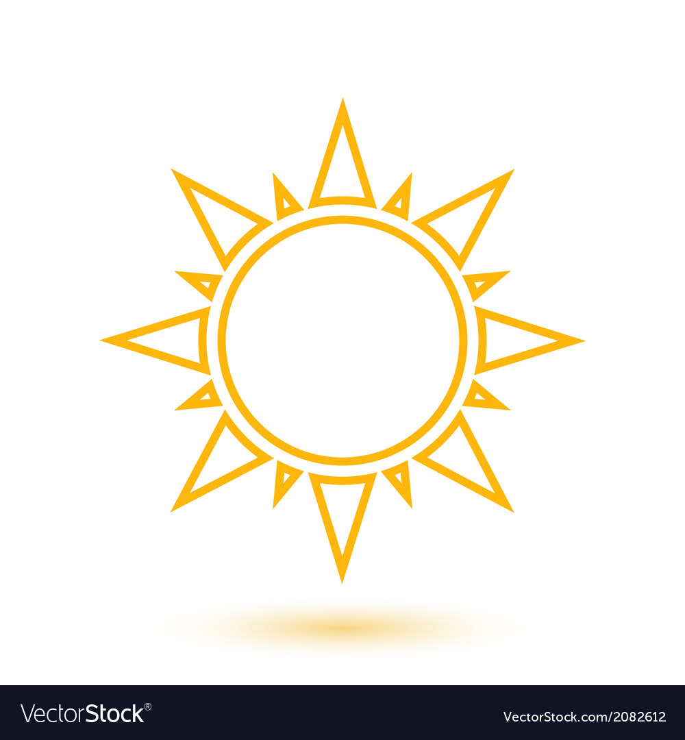 Simple of abstract sun vector
