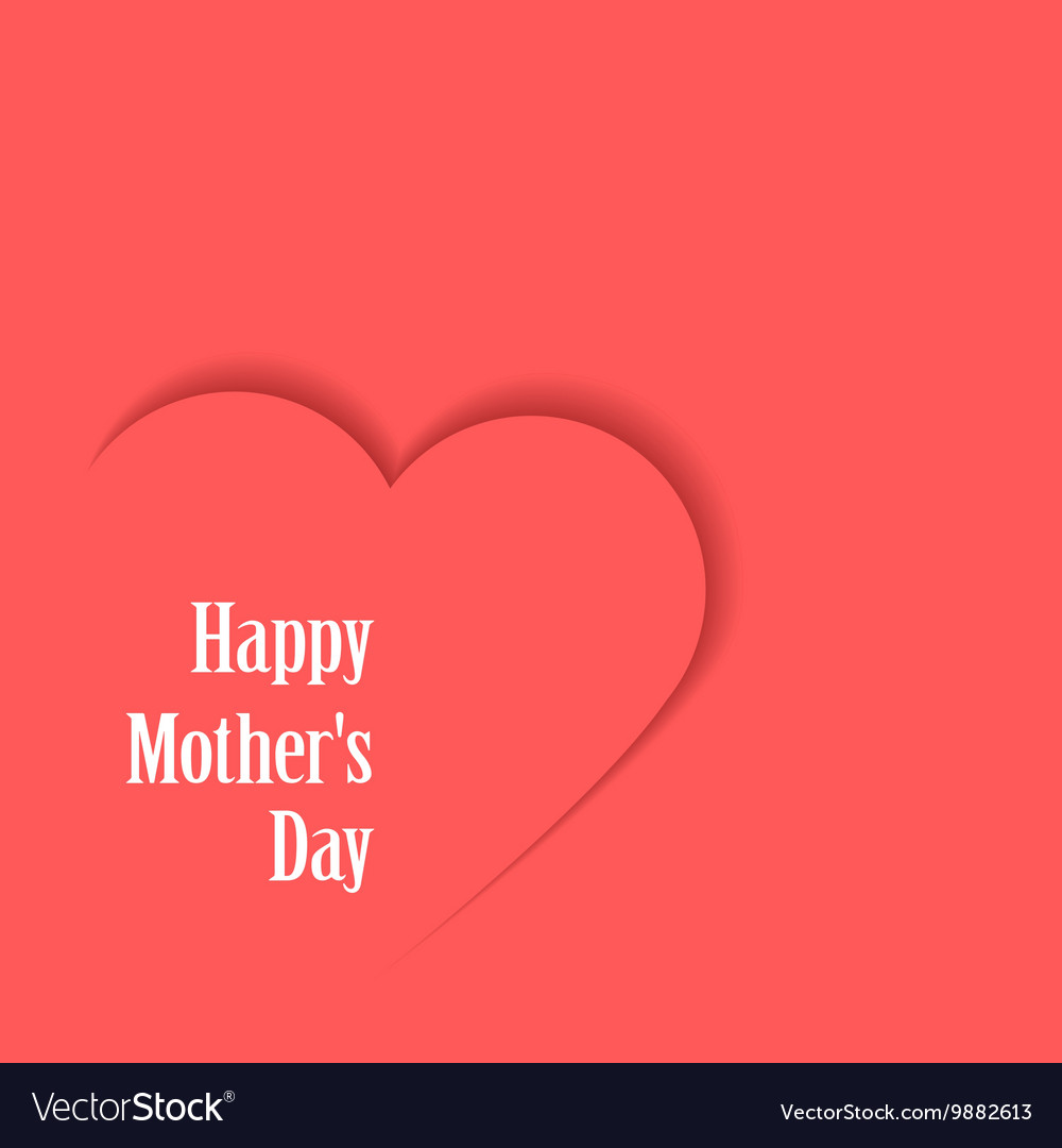 Happy motherss day card with heart vector