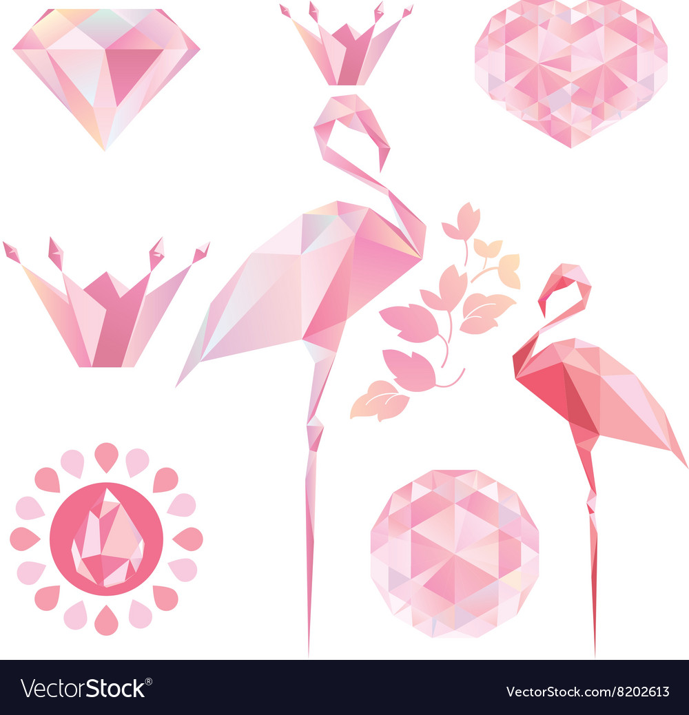 Pink flamingo vector