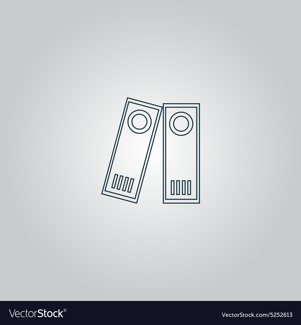 Row of binders icon vector