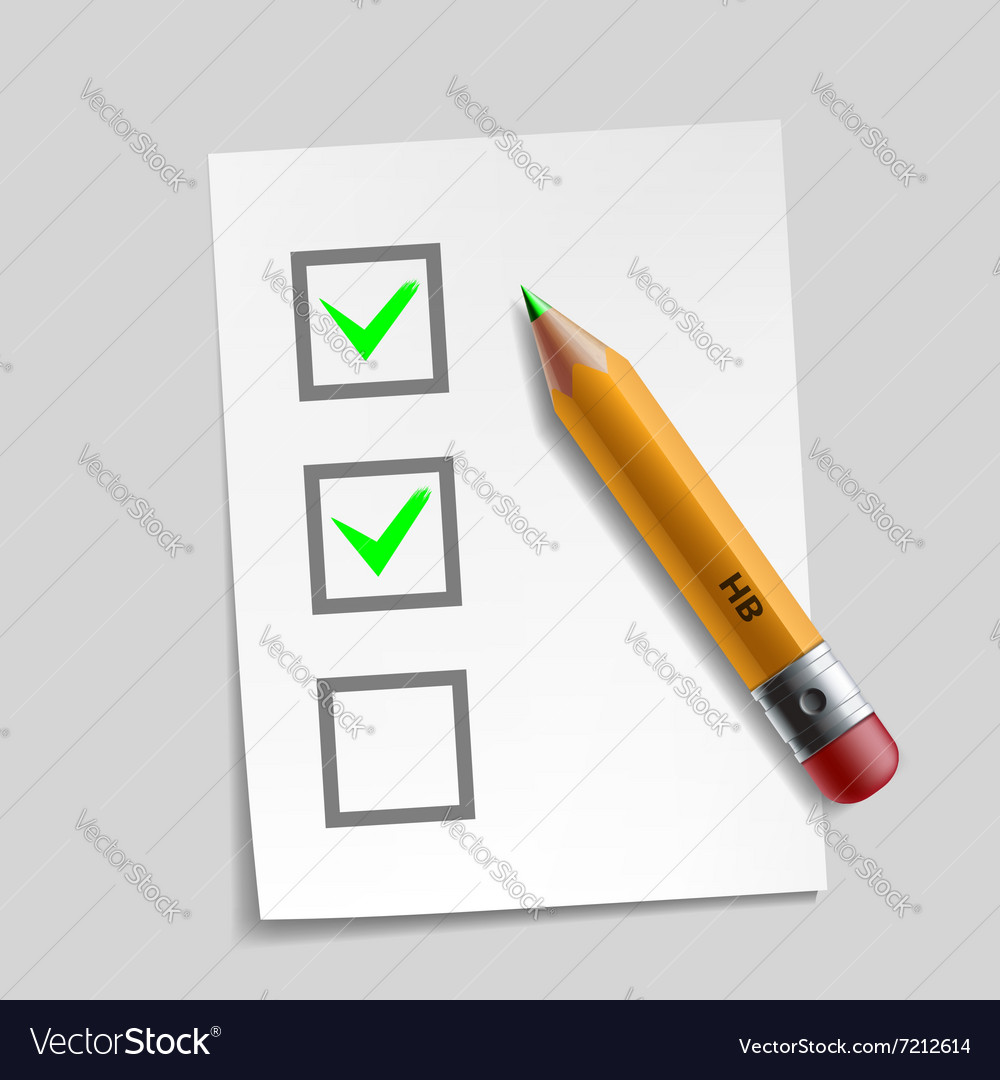 Customer survey check mark design vector