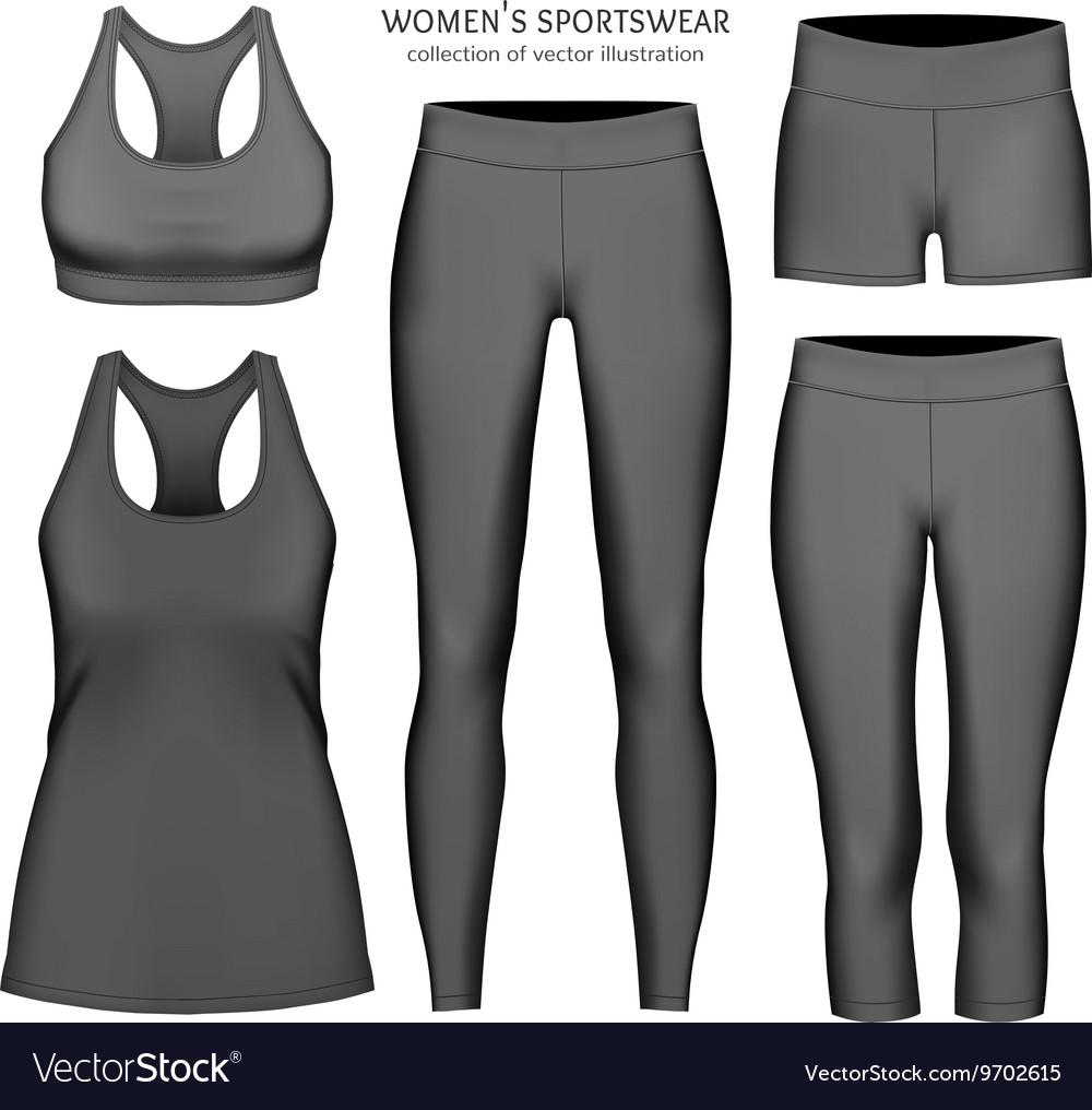 Women sportswear vector