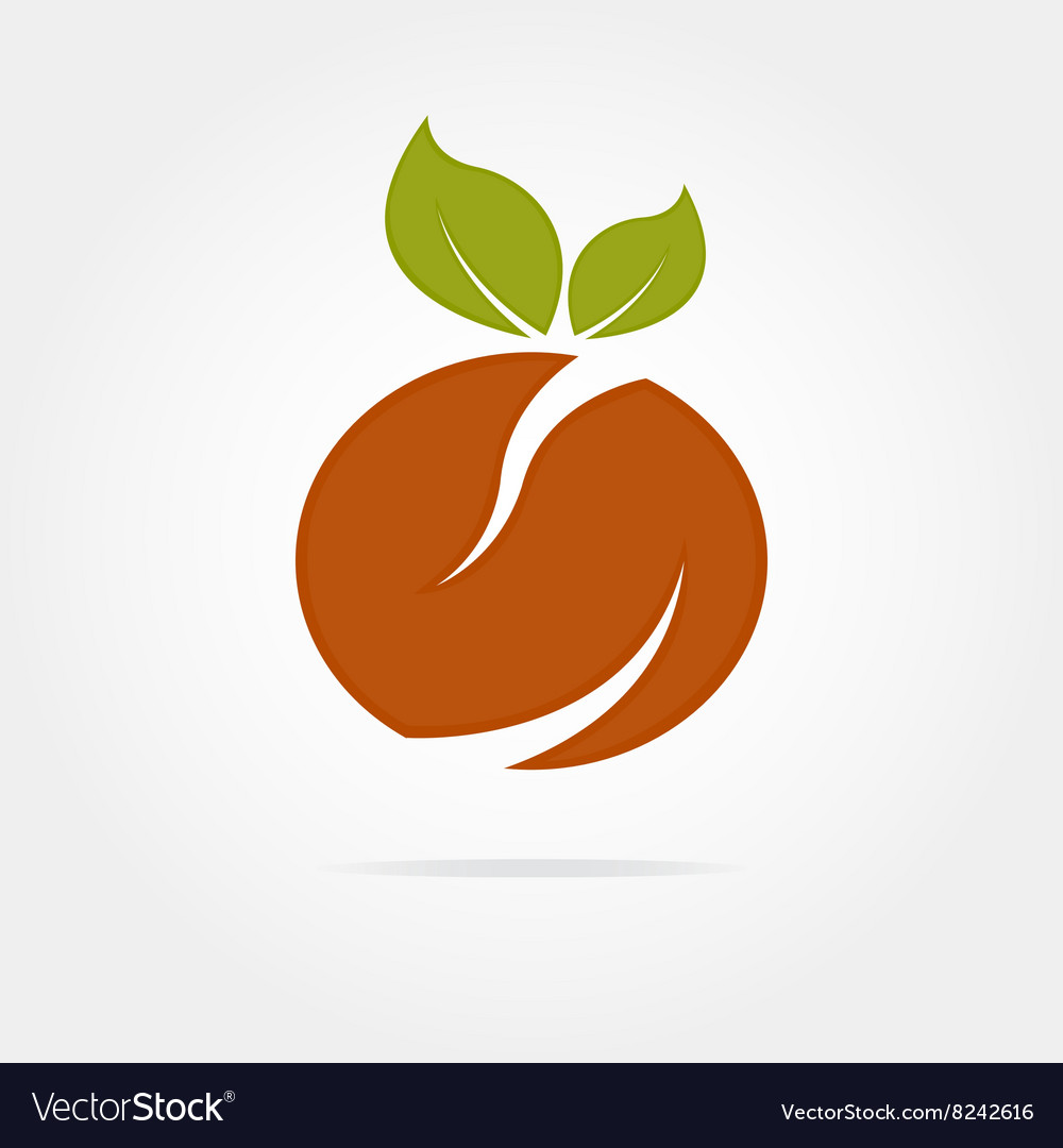 Abstract orange logotype vector