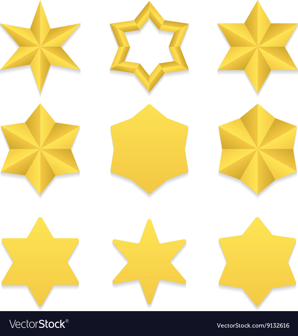 Six point stars collection vector