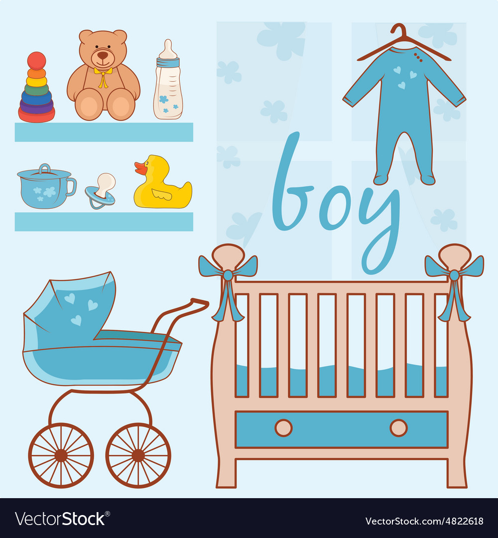Room baby boy vector