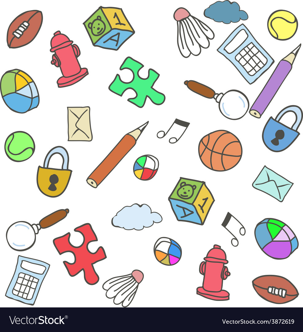 Colorful doodle background vector