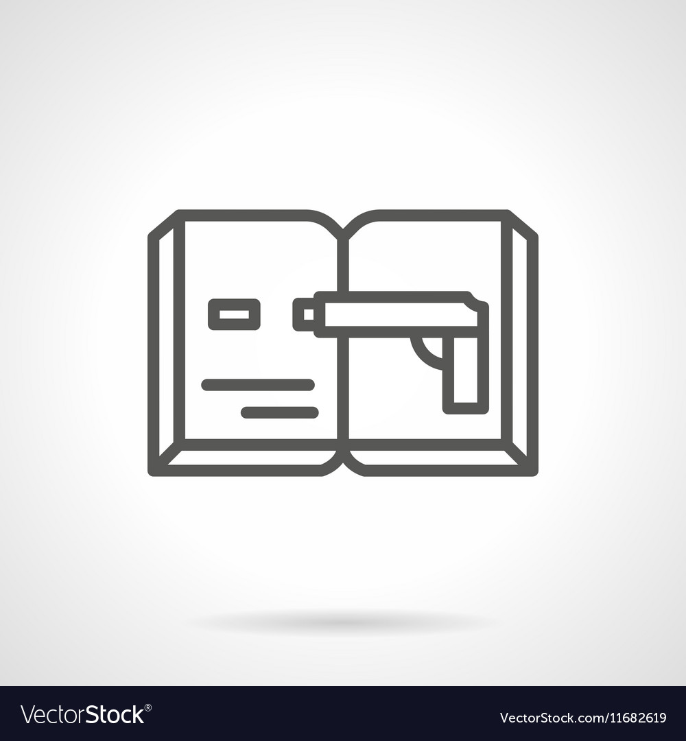 Spy novel simple line icon vector