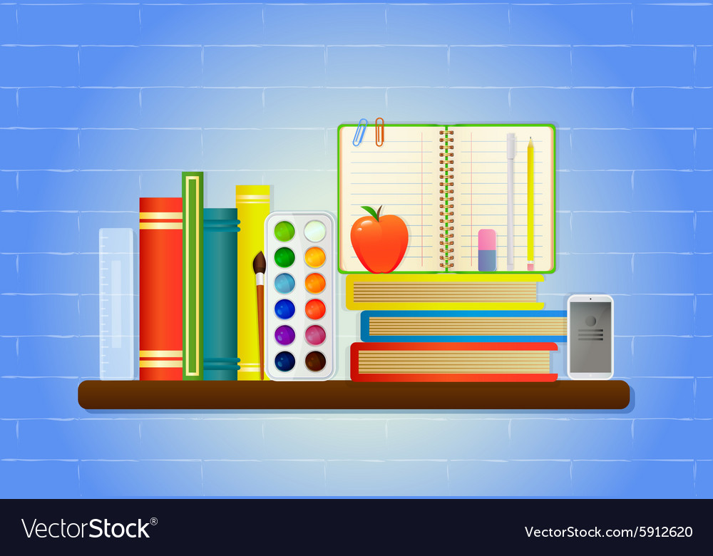 School education items vector