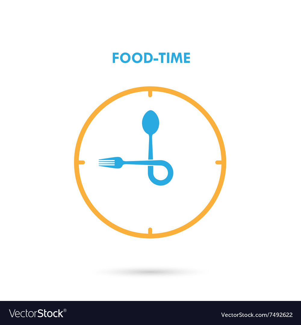 Food timelunch time icon vector
