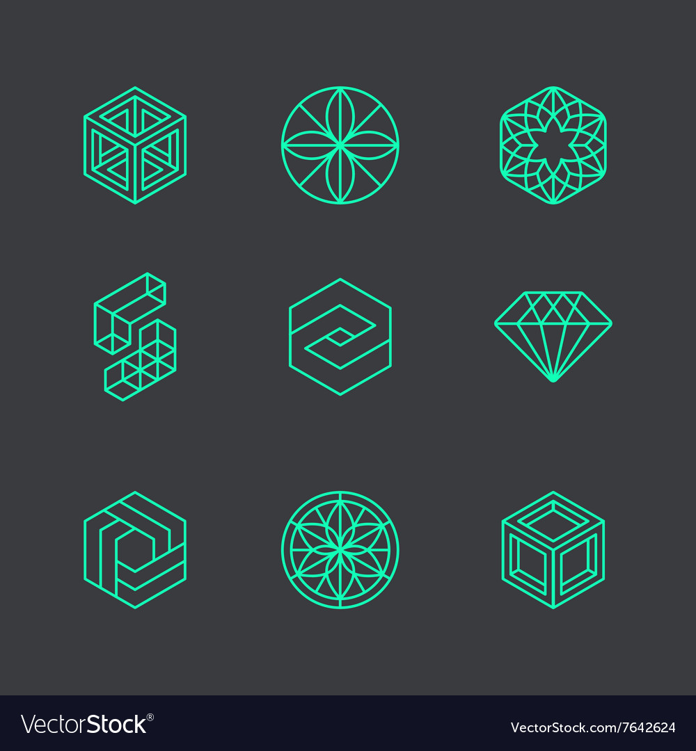 Abstract modern logo design templates vector