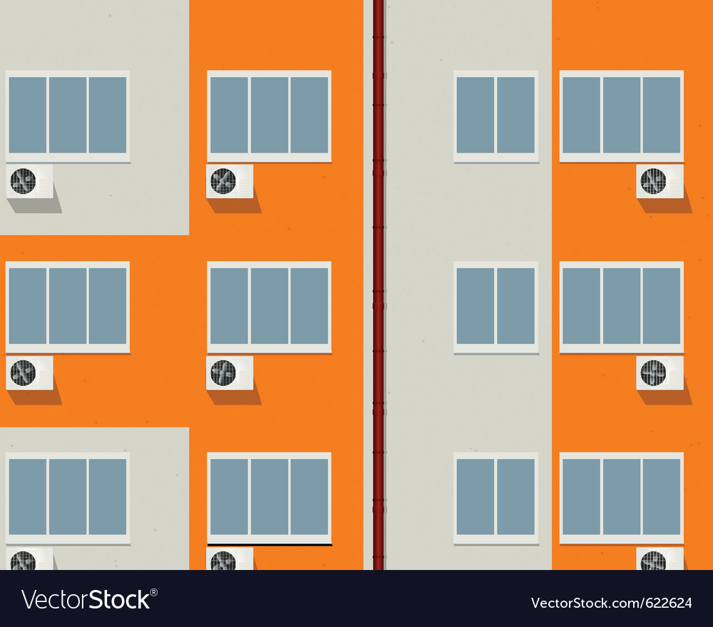Apartment buildings vector