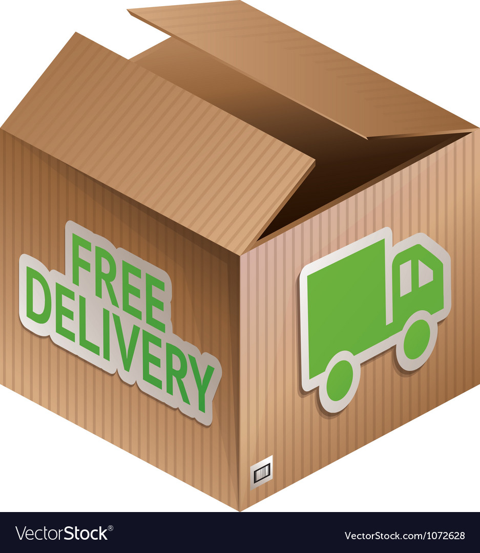 Box with free shipping icon vector