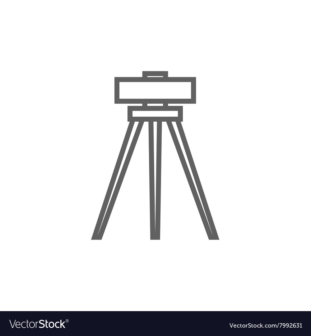 Dolite on tripod line icon vector