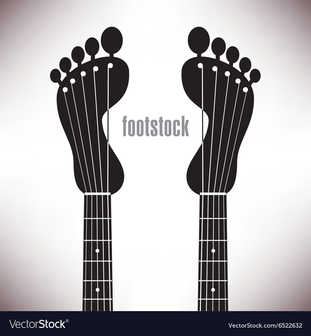 Footprint headstocks footstock vector