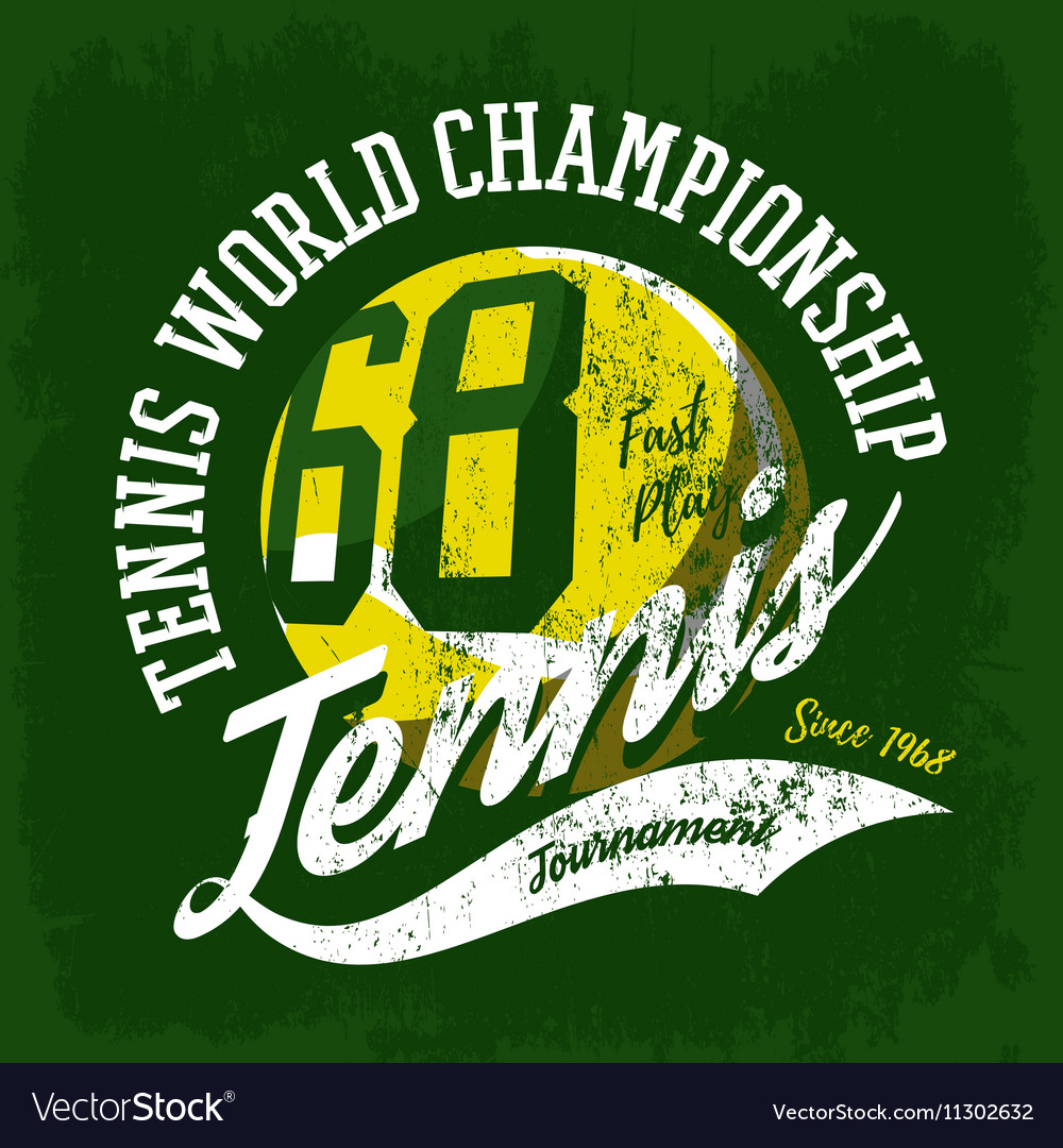 Tennis ball sportswear design or tournament logo vector