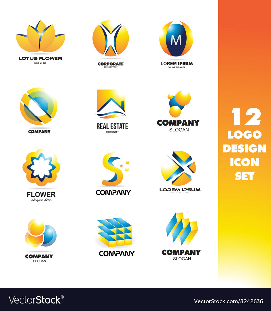 Logo icon design elements set vector