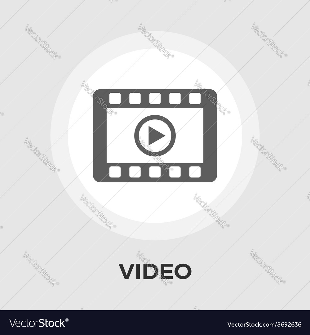 Video player flat icon vector