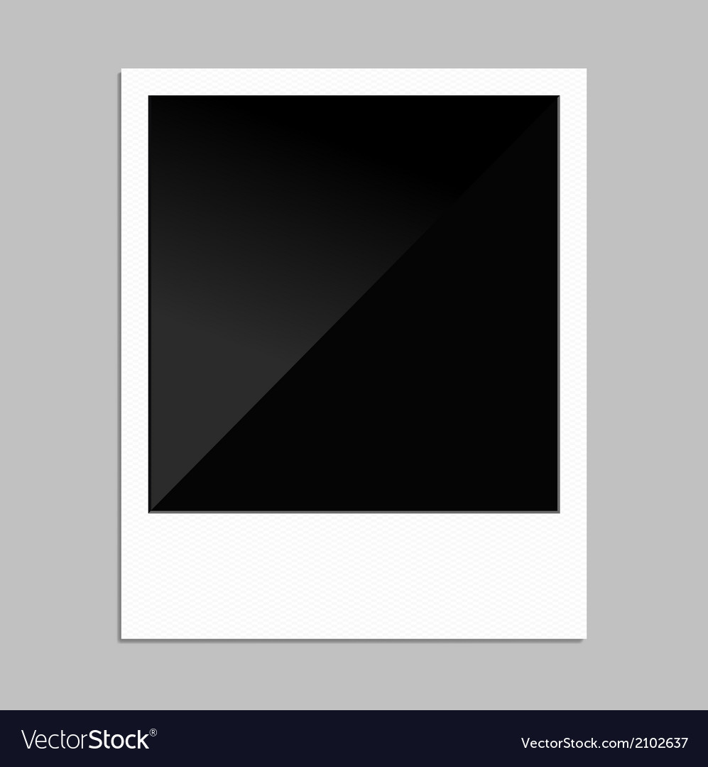 Polaroid photo vector