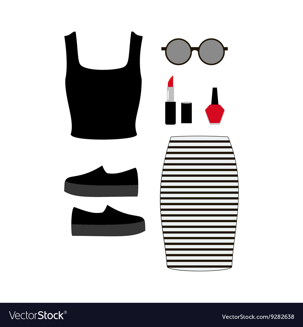 Fashion look vector