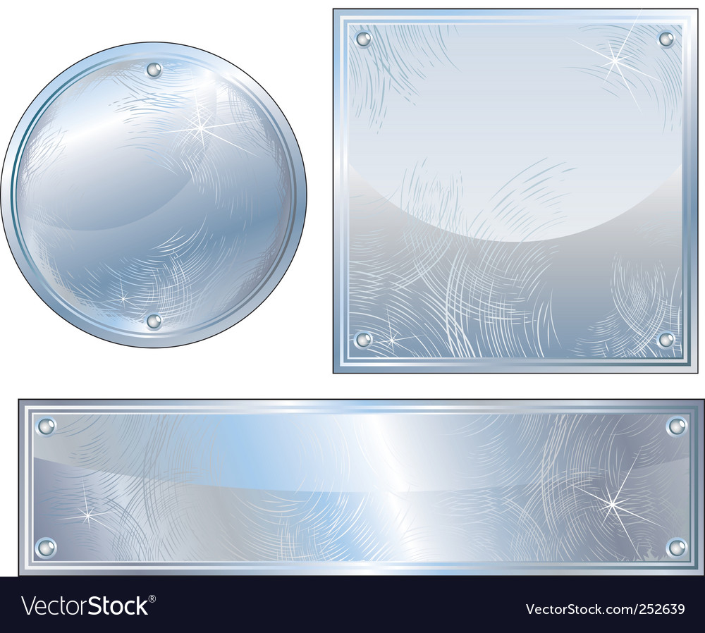 Brushed platinum vector