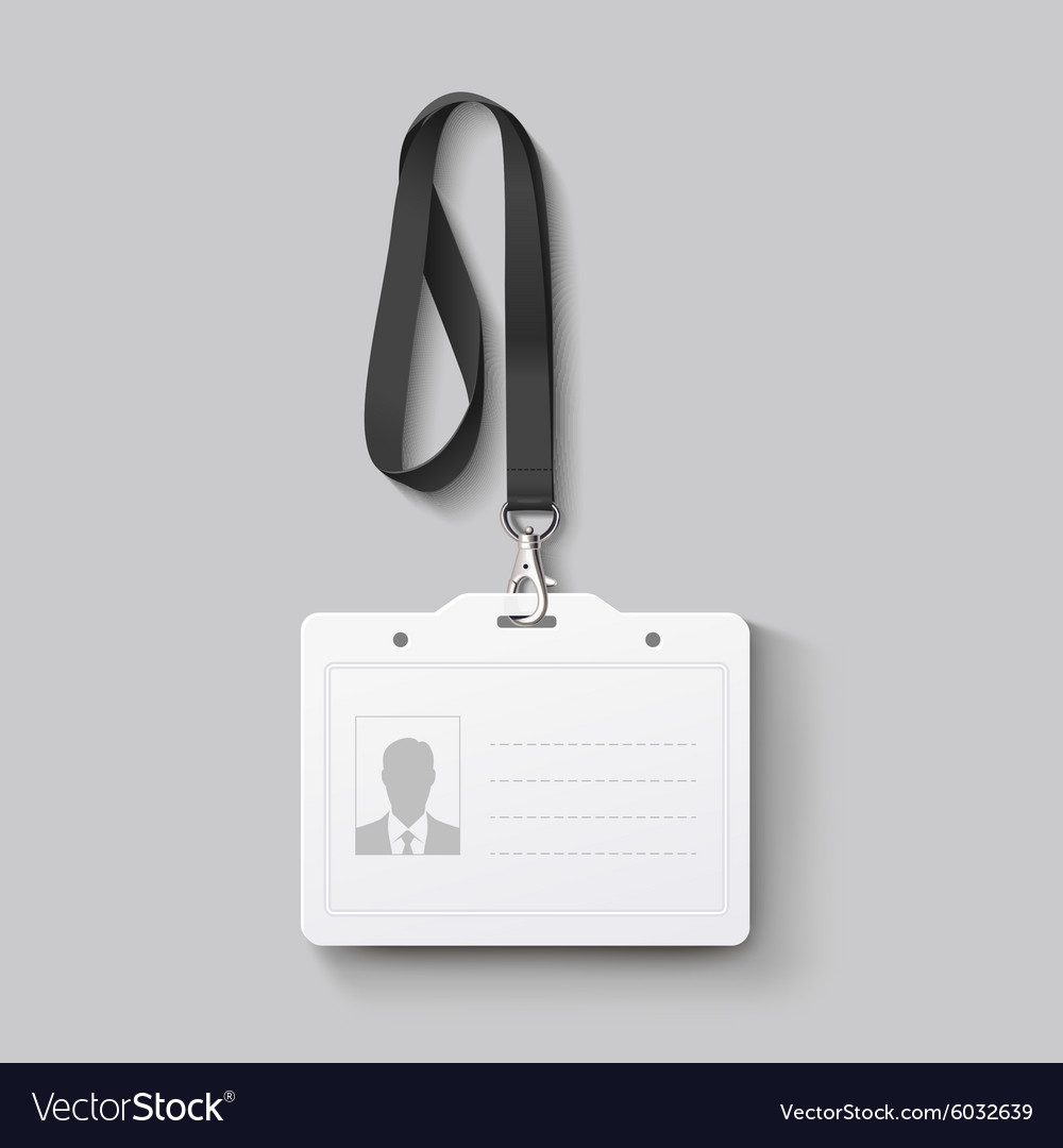 Id badge with lanyard vector