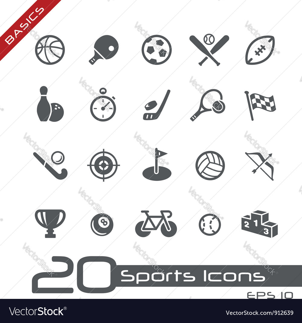 Sports icons basics vector