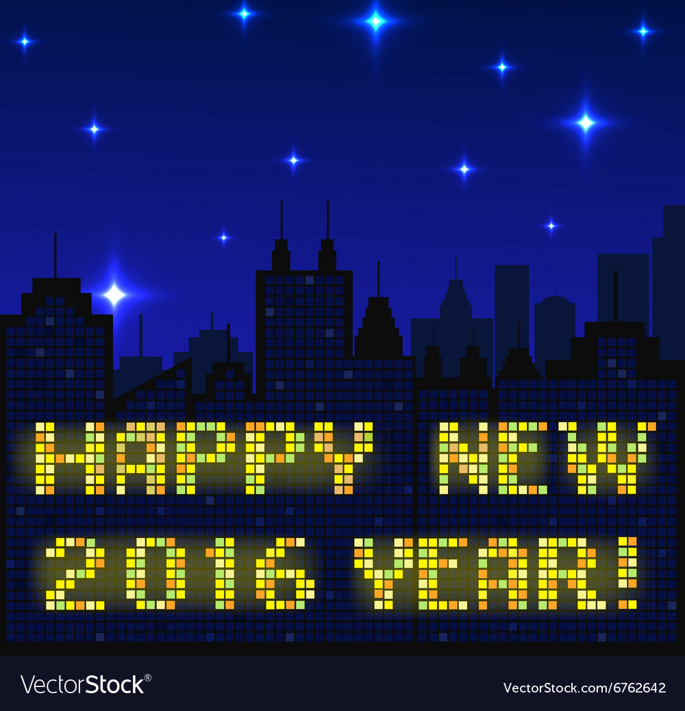 2016 happy new year vector