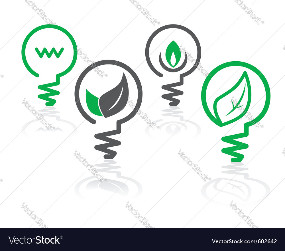 Environment green icons vector